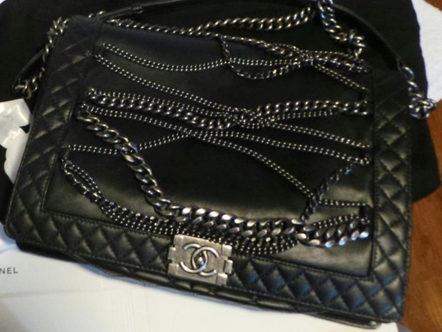 6b7fc3315451 Chanel Boy Quilted Enchained Bag   Bragmybag