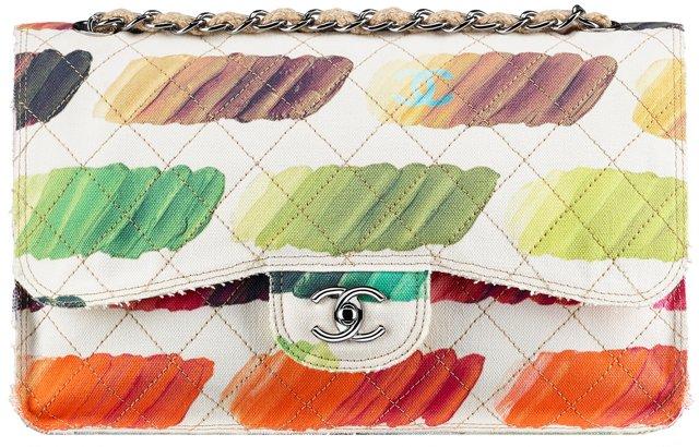 Chanel-Canvas-Flap-Bag-with-Colorful-Paint-Palette-Print