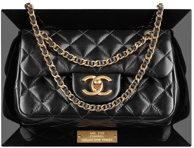 Chanel-Lambskin-Flap-Bag-in-a-Plexiglas-Frame