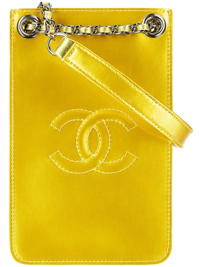 Chanel-Phone-Holder-yellow