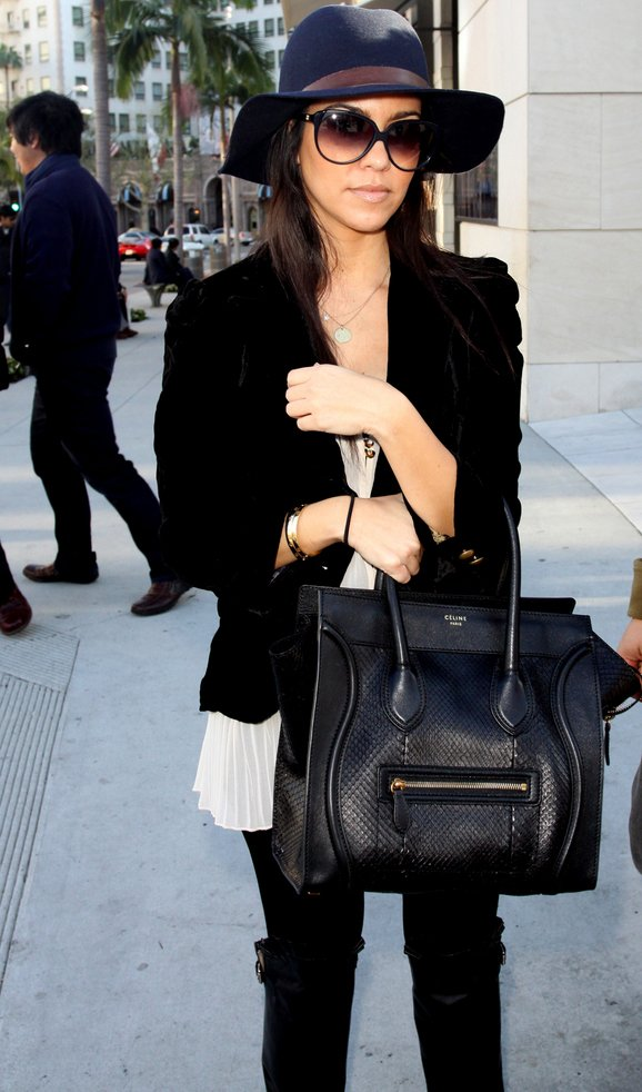 celine luggage tote online shop - Street Snaps: Kourtney Kardashian in Celine Luggage Tote in ...