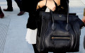 Street Snaps: Kourtney Kardashian in Celine Luggage Tote in Classic Black