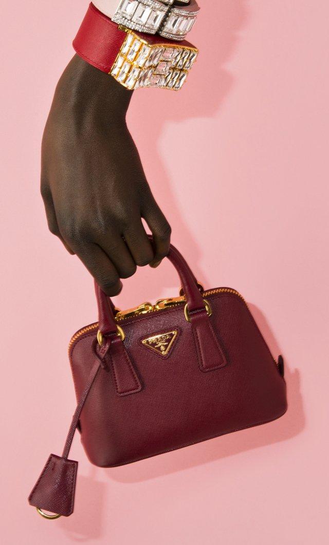 black prada handbag - red prada saffiano leather mini bag