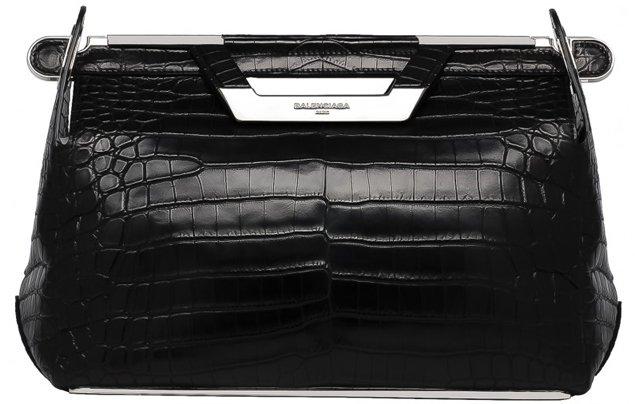Balenciaga-Ray-Doctor-Bag-croco-black