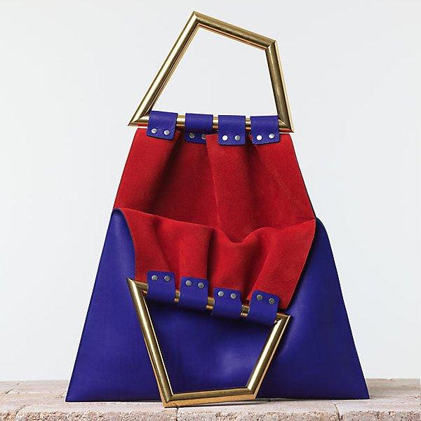 Celine-Triangle-Handbag-in-Smooth-Calfskin-Indigo