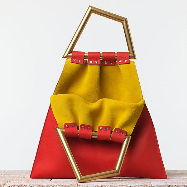 Celine-Triangle-Handbag-in-Smooth-Calfskin-Vermilion