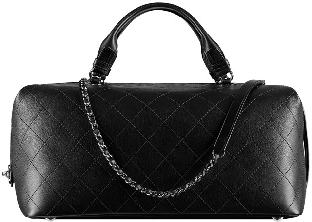Chanel-Calfskin-Bowling-Bag-Embellished-with-An-Interlaced-Chain