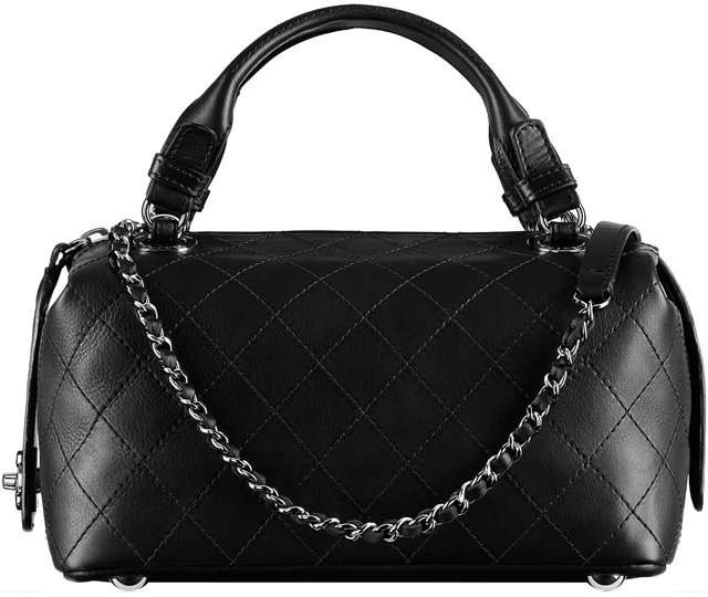 Chanel-Small-Calfskin-Bowling-Bag-Embellished-with-An-Interlaced-Chain