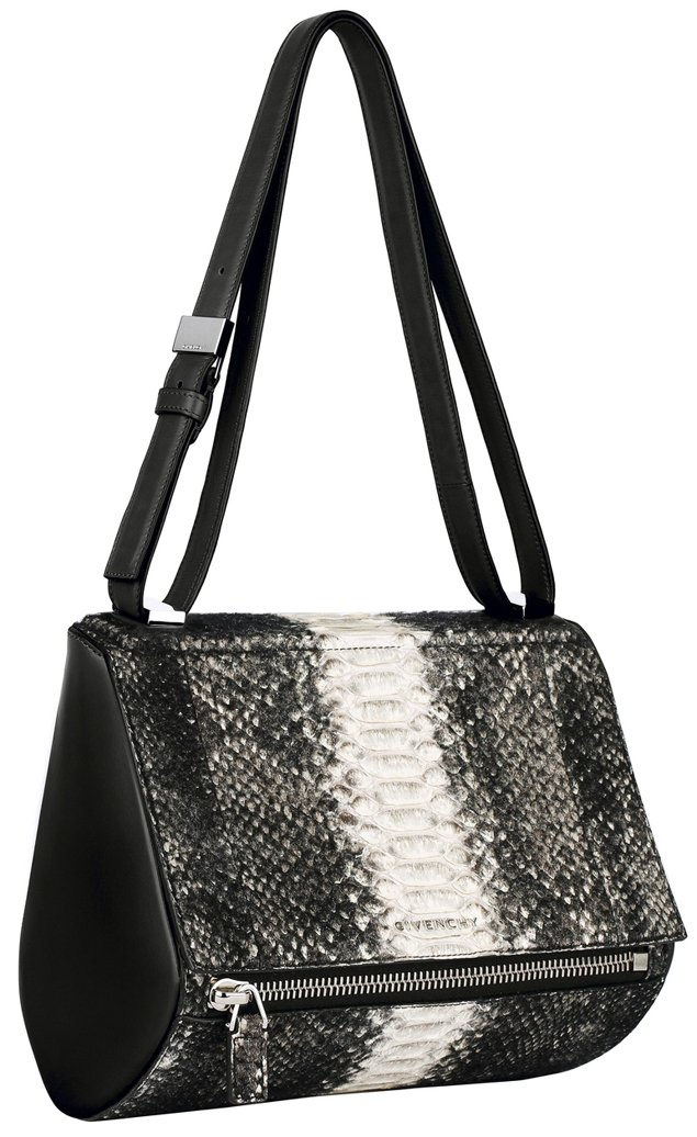 Givenchy-Medium-black-and-white-shearling-python-Pandora-Box-bag