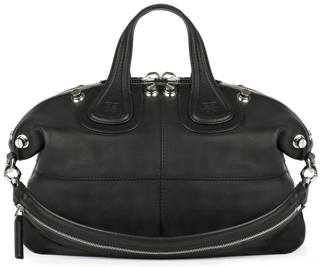 Givenchy-Medium-black-waxed-leather-Nightingale-bag-with-silver-studs