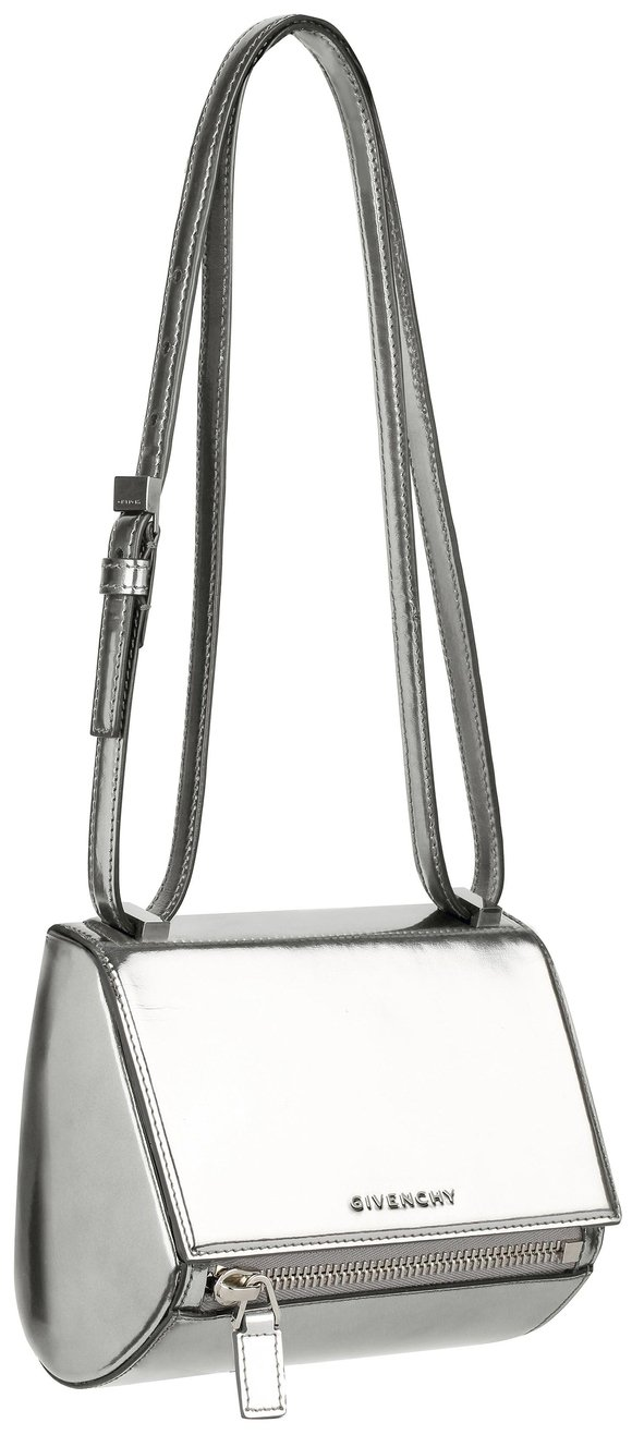 Givenchy-Mini-silver-mirrored-leather-Pandora-Box-bag