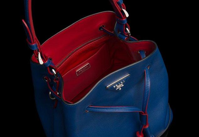 prada saffiano executive tote - prada blue handbag