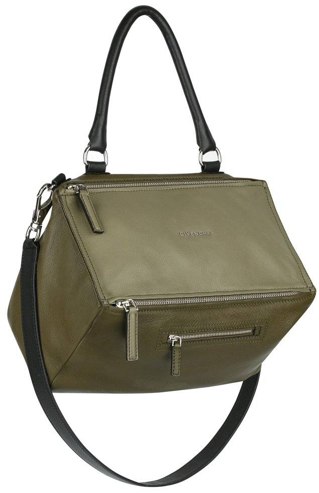 givenchy-Medium-smooth-khaki-leather-Pandora-bag