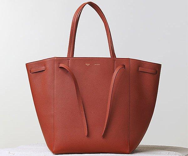 Celine-Cabas-Phantom-Handbag-Brick-Soft-Grained-Calfskin