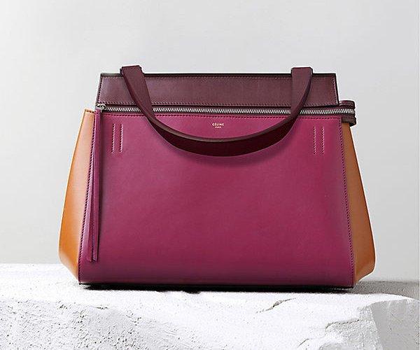 Celine-Edge-Handbag-Orchid-Multicolour-Calfskin-Satin