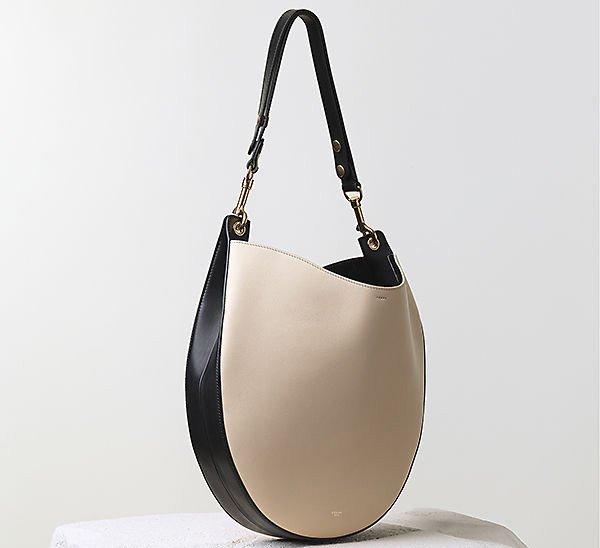 Celine-Hobo-Handbag-Seashell-Multicolour-Smooth-Calfskin