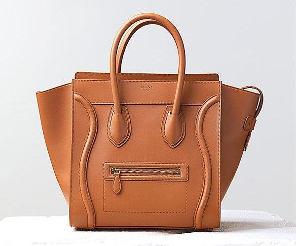 Celine-Luggage-Handbag-Light-Copper-Smooth-Calfskin