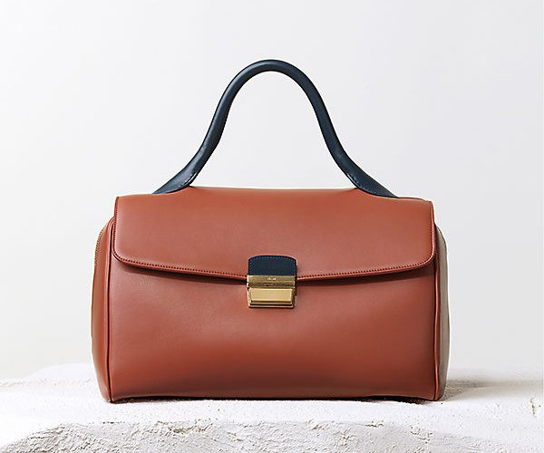 Celine-Top-Handle-Handbag-Brick