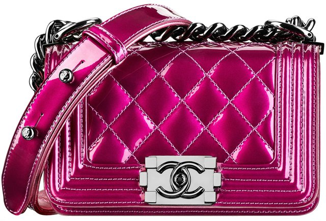 Chanel-Boy-Metallic-Bag-Red