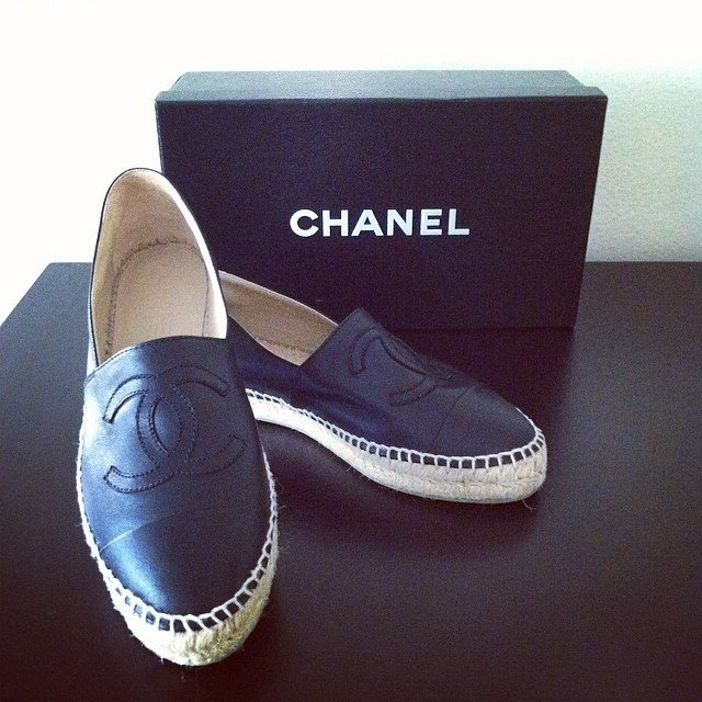 Chanel CC Espadrilles in Mesh: $450 USD