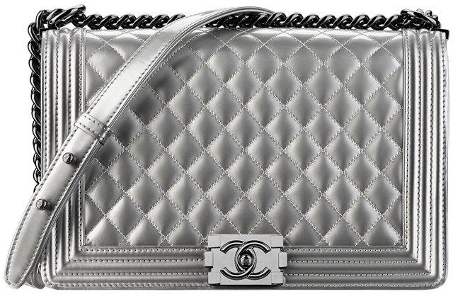 Chanel-Large-Boy-Metallic-Bag-Grey