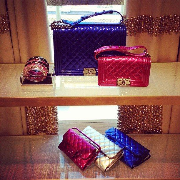 Chanel-boy-Metallic-Bags
