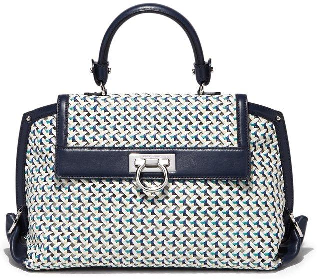 Salvatore-Ferragamo-Sofia-Bag-In-Woven-Motif-blue