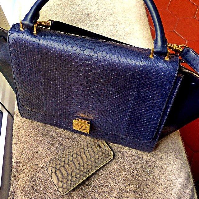 Celine-Trapeze-Bag-Blue-Croco