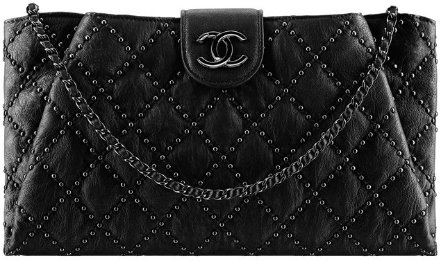 Chanel-Coco-Pleats-Clutch-Bag-with-Studs