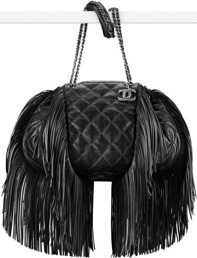 Chanel-Drawstring-Flap-Bag-With-Fringes
