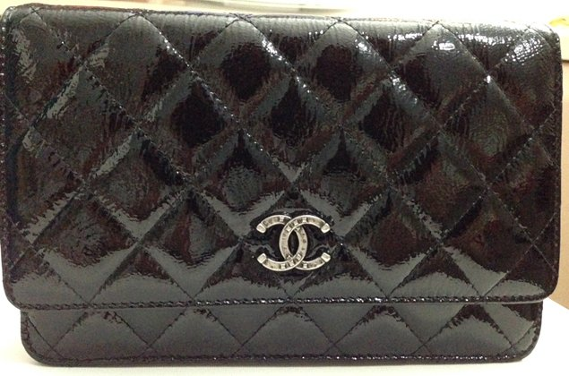 Chanel Quilted Wallet on Chain in Patent | Bragmybag : chanel woc classic quilted bag - Adamdwight.com