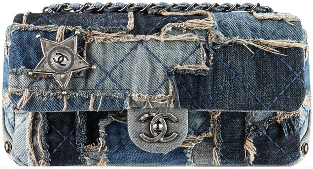 Chanel-denim-patch-work-flap-bag-with-stars
