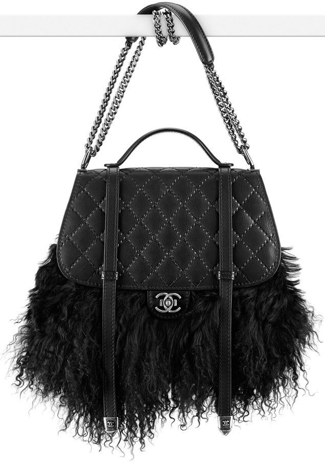 Chanel-double-flap-bag-in-lambskin-fur