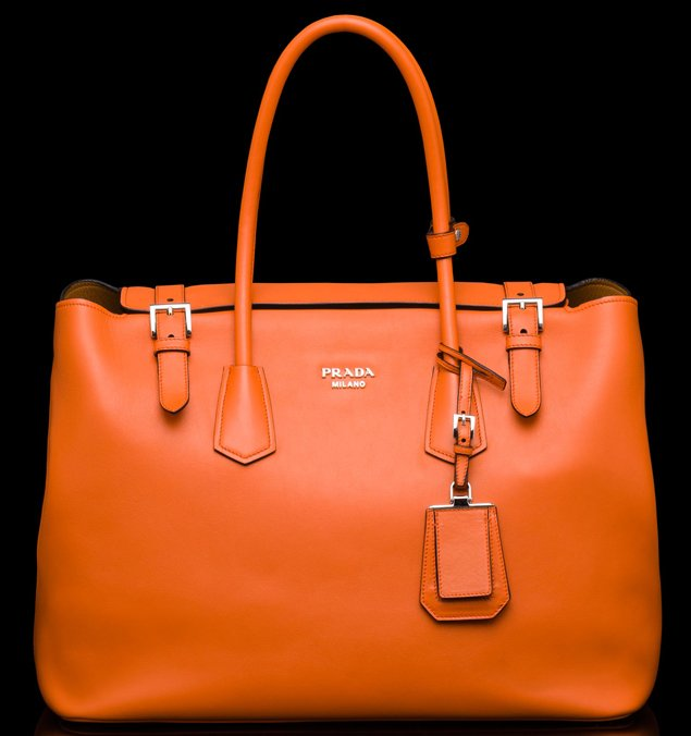 Prada-Buckle-Saffiano-Tote-orange