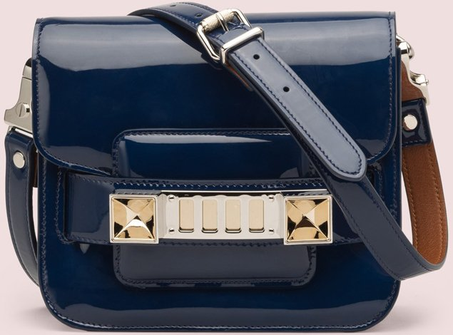 Proenza-Schouler-PS11-Tiny-Bag-Blue-Patent