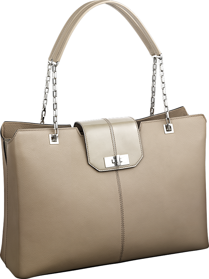 Cartier-Classic-Line-Chain-Tote-Brown