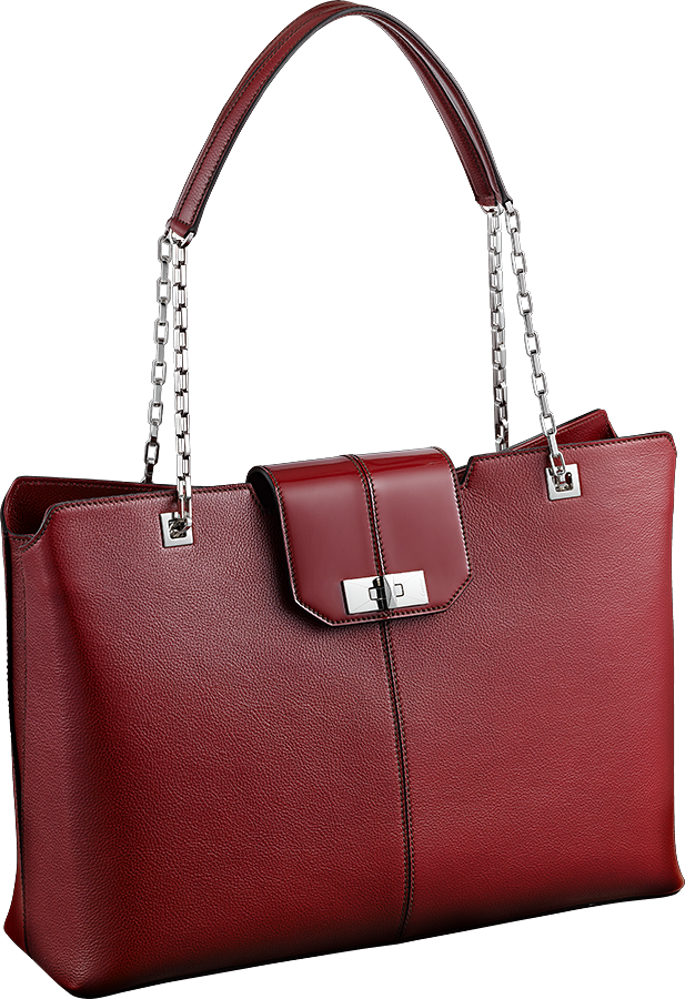 Cartier-Classic-Line-Chain-Tote-Red