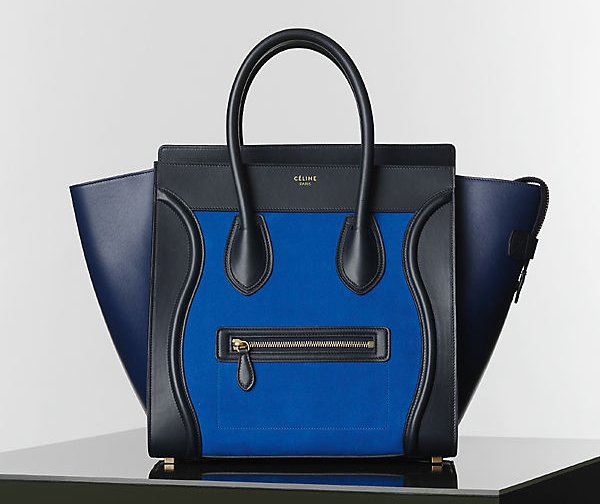 Celine-Bright-Blue-Nubuck-Suede-Mini-Luggage-Tote
