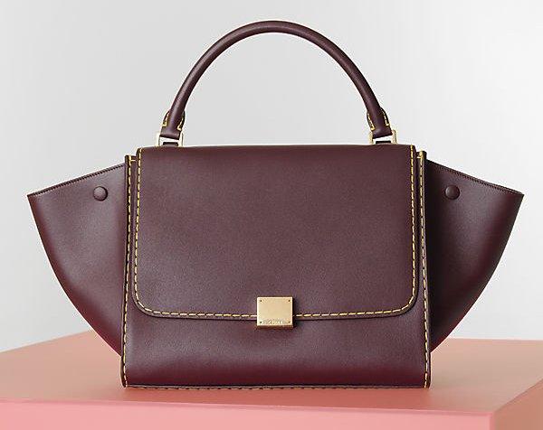 Celine-Burgundy-Trapeze-Bag