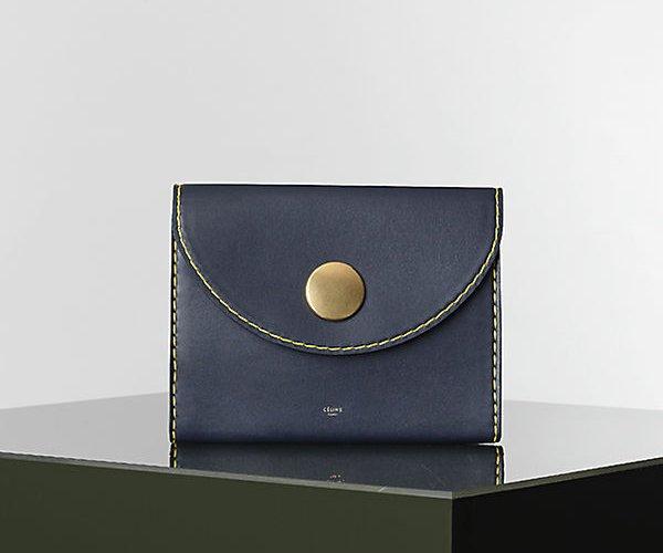 Celine-Orb-Clutch-in Navy-Blue