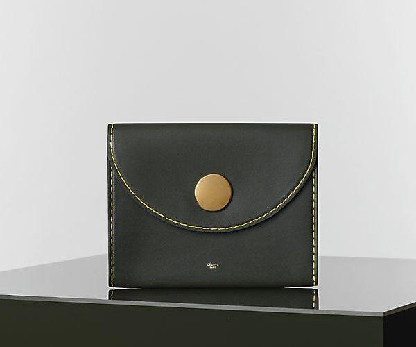 Celine-Orb-Clutch-in-khaki