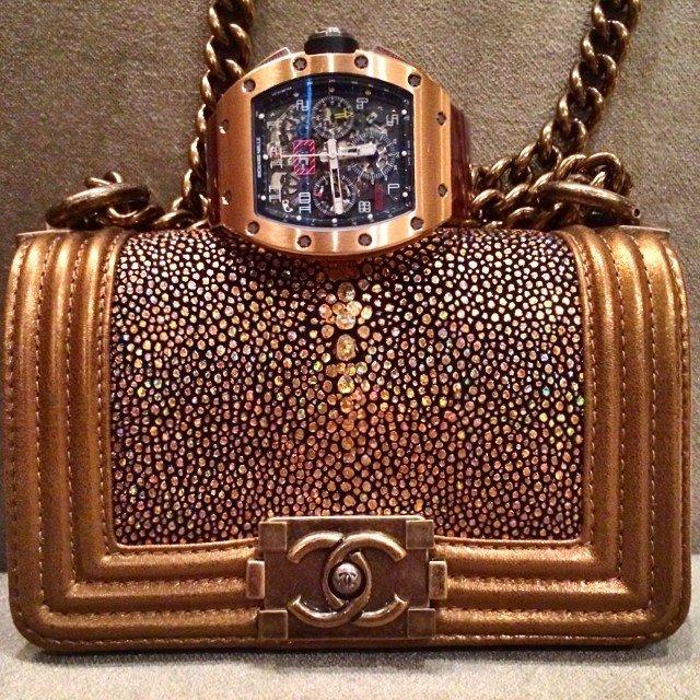 bfbdec0b69fbba Chanel Boy Stingray Flap Bag For Pre-Fall 2014 Collection | Bragmybag
