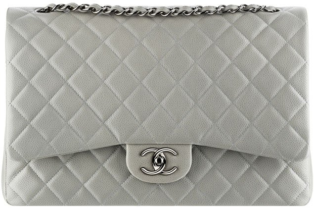 Chanel-Classic-Flap-Bag-gray-grained-calfskin