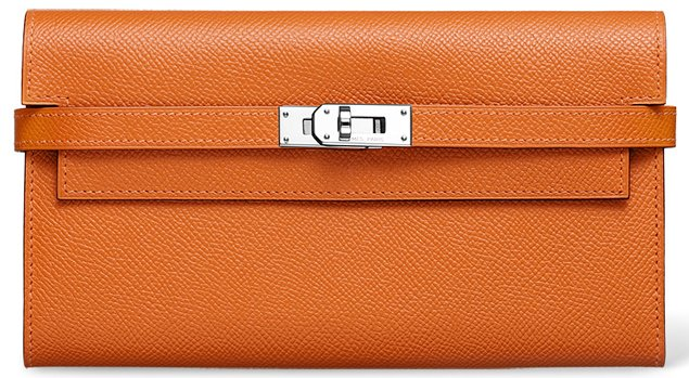 Chanel-Kelly-Long-Wallet-Orange