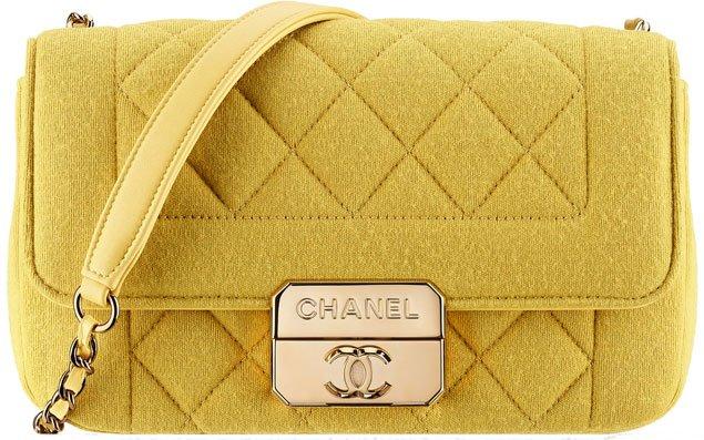 Chanel-jersey-flap-bag-yellow