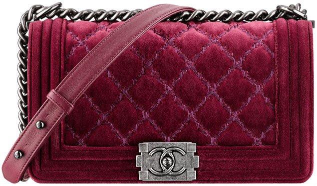 Chanel-velvet-boy-chain-flap-bag