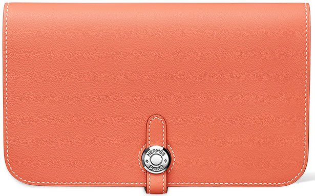 Hermes-Dogon-Wallet-in-Prawn-Pink