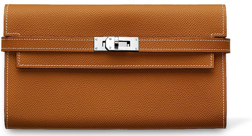 Hermes-Kelly-Wallet-Brown