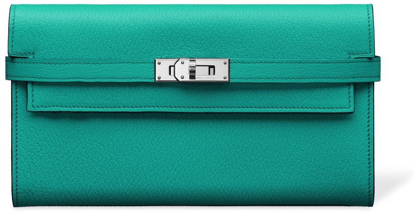 Hermes-Kelly-Wallet-Green