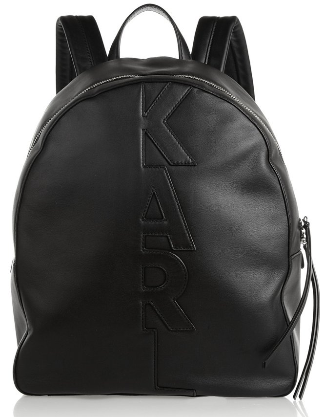 Karl-Lagerfeld-Appliqué-Leather-Backpack-2